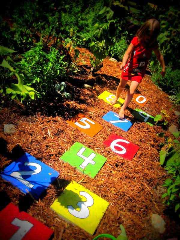 hopscotch garden pathway