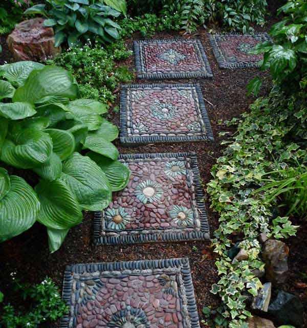 garden stepping stones ideas