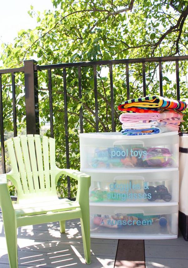 diy pool storage
