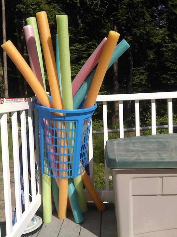 diy pool storage bin
