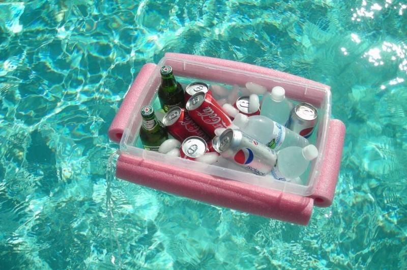 diy pool float storage