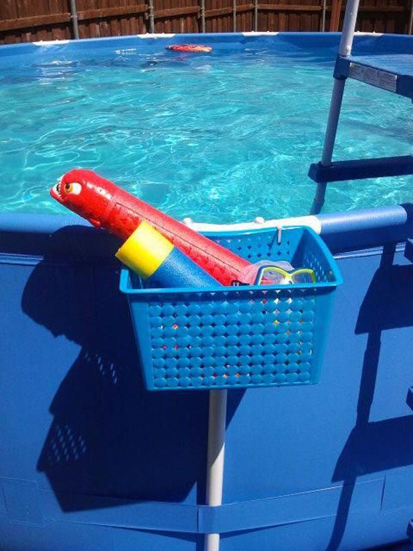 diy pool organizer