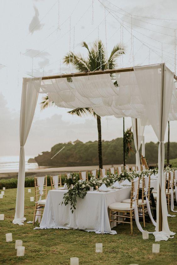 stunning beach wedding setting