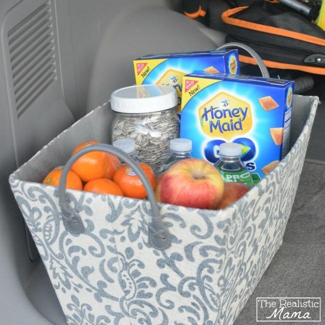 car snacks box