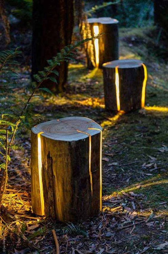 how to make furniture out of logs