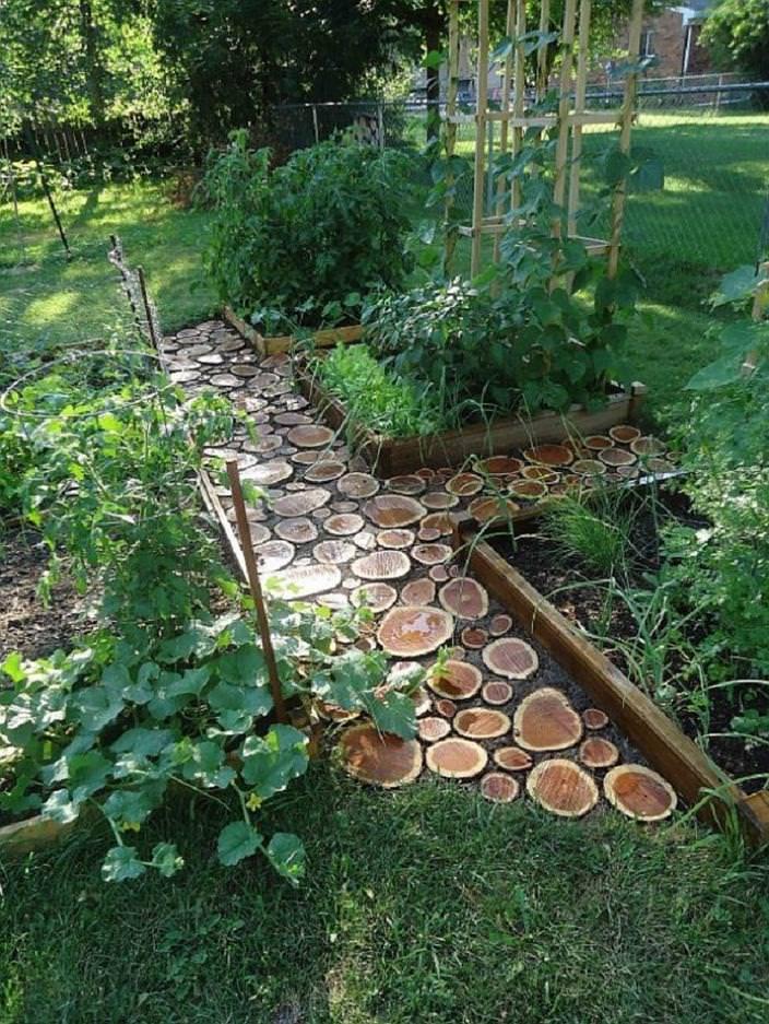 garden log pathway