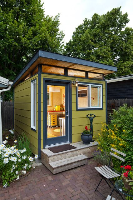 outdoor office shed ideas