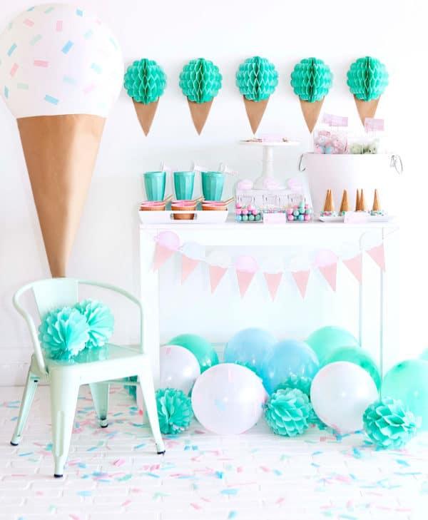 ice cream birthday theme