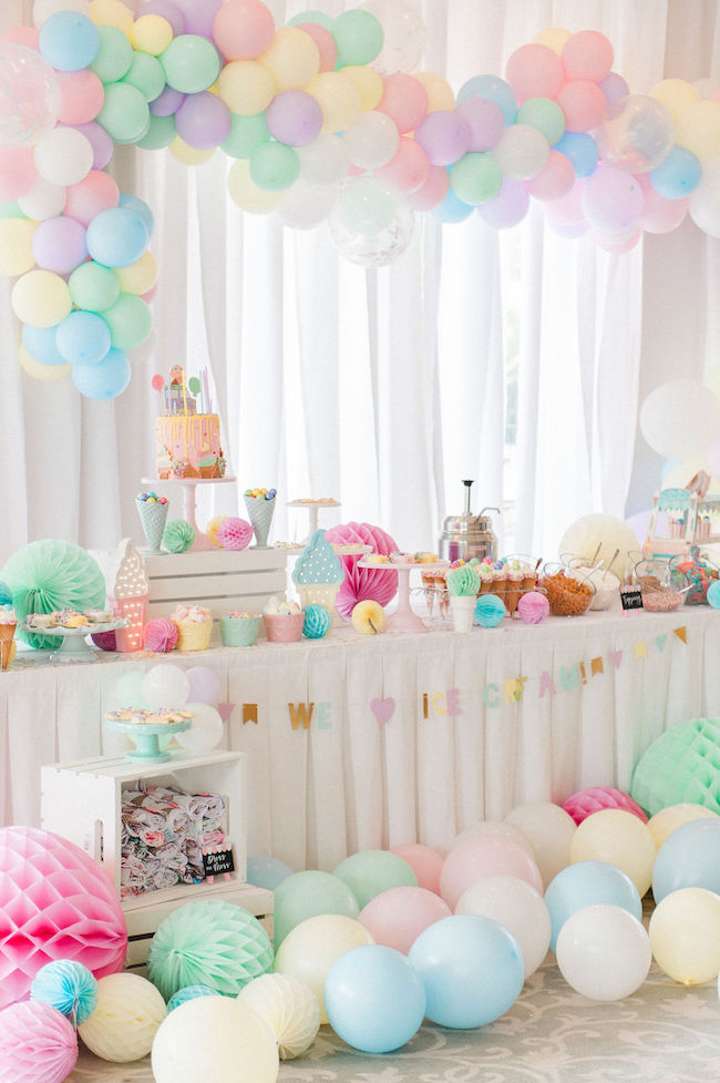 ice cream birthday theme idea