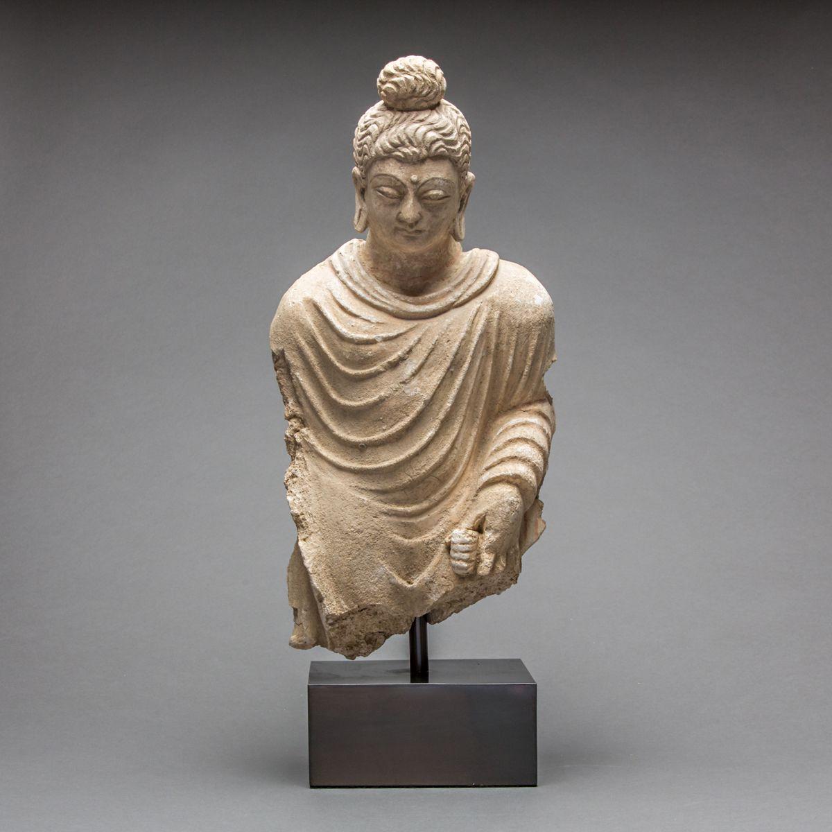 Stucco Sculpture of a Standing Buddha   Standing buddha, Asian art, Greek sculpture